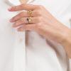 ANSUINI - Anello in oro con lapis naturale