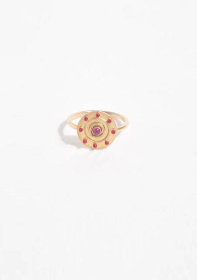ANSUINI - Anello in oro con rubino naturale