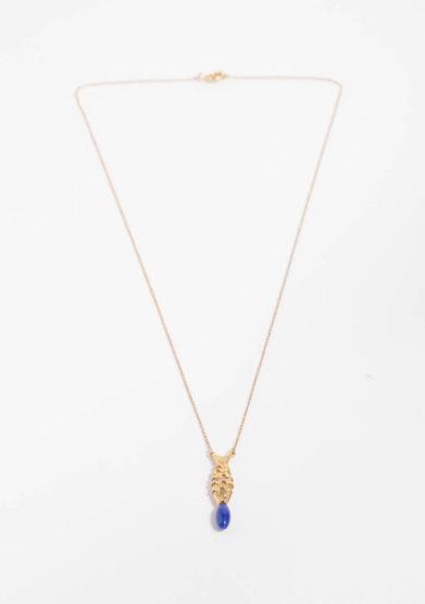 ANSUINI - Collana in oro con pesce e lapis