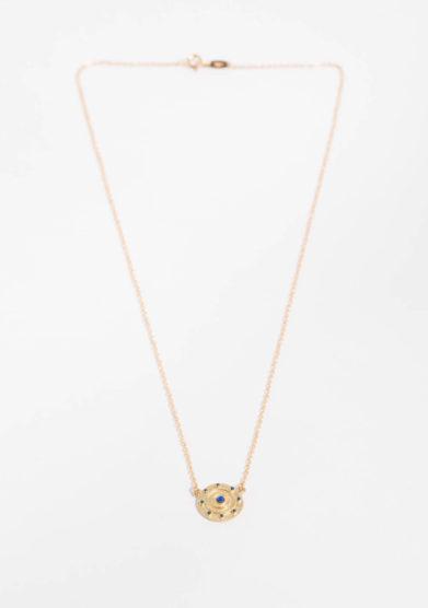ANSUINI - Collana in oro con lapis naturale