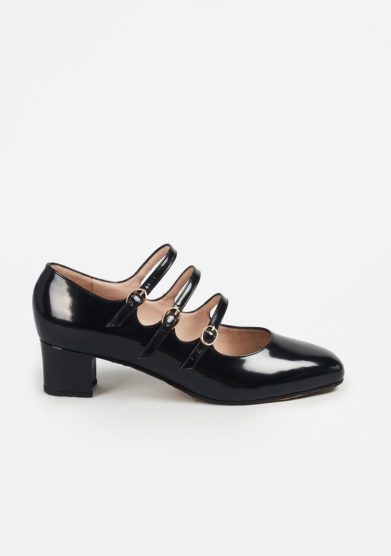 TARCIO - Patent leather pumps with straps