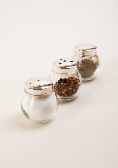 ARG. CORRADINI - Set sale, pepe e peperoncino a sfera in trilaminato d'argento