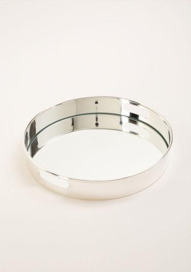 ARG. CORRADINI - Vassoio tondo in trilaminato d'argento