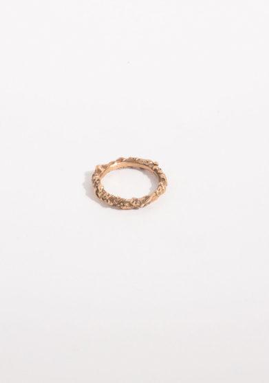CREPUNDIA - Anello intrecciato in bronzo