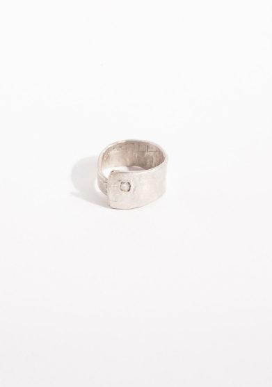 CREPUNDIA - Anello fascia con diamante