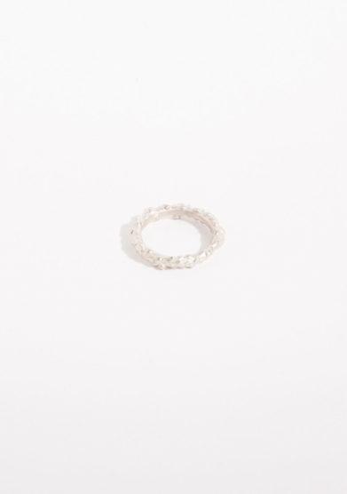 CREPUNDIA - Anello intrecciato in argento
