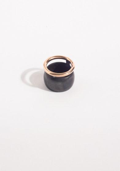 CREPUNDIA - Doppia fede oro rosa e argento brunito