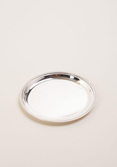 ARG. CORRADINI - Piattino tondo in argento stile Impero