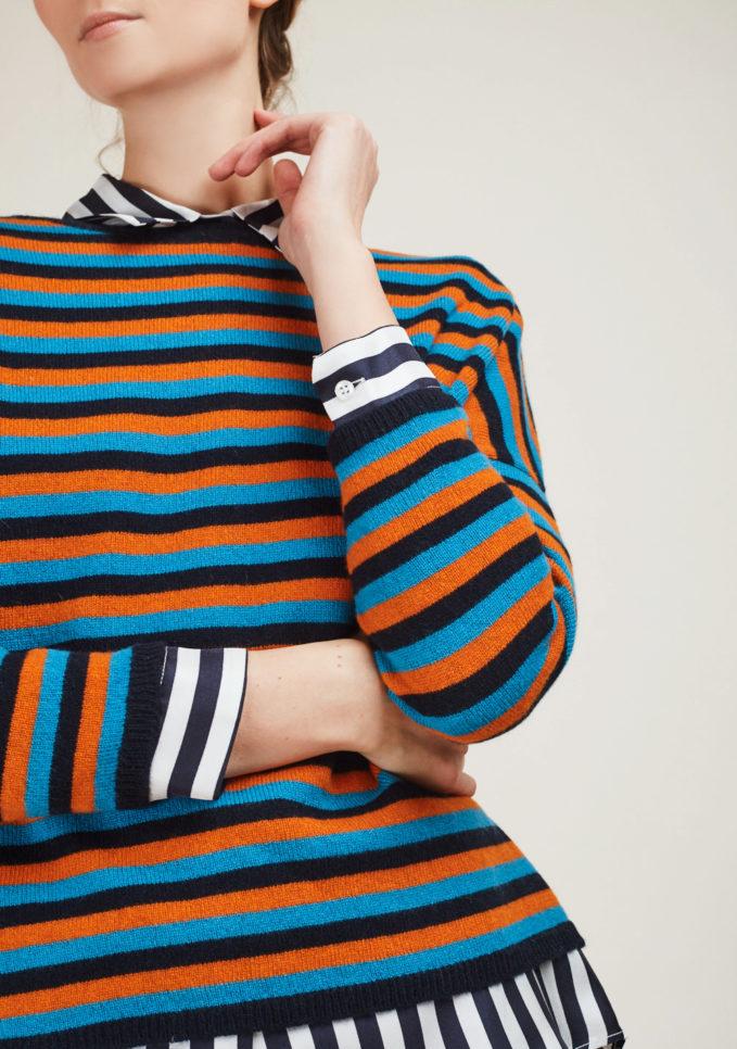 Alyki - Striped cashmere sweater