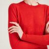 ALYKI - Ultra soft red cashmere crewneck sweater