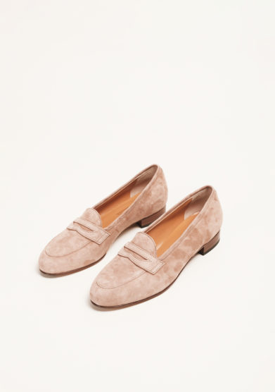 LAUDADIO - Beige suede loafers