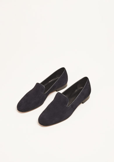 LAUDADIO - Slippers in camoscio blu