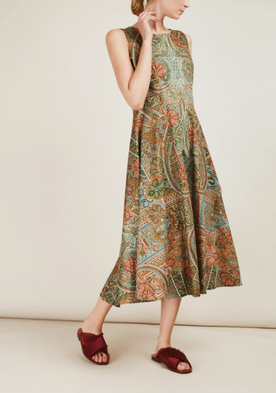 ALBERTA FLORENCE - Printed cotton midi dress
