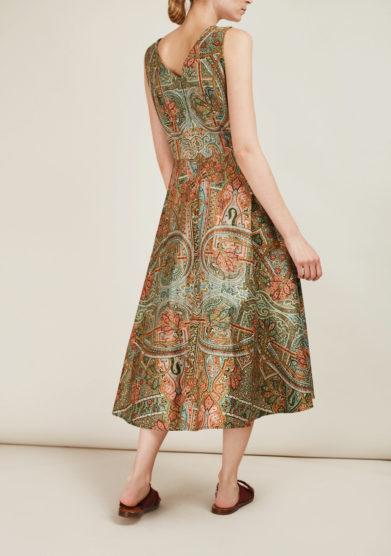 ALBERTA FLORENCE - Printed cotton midi dress