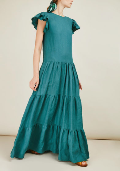 CAFTANII FIRENZE - Linen maxi dress