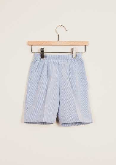 BARONI - Boy's striped bermuda shorts and polo set