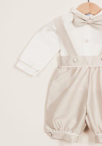 BARONI - Completo bambino cerimonia in cotone e seta