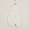 BARONI - Pagliaccetto neonato in seta punto smock