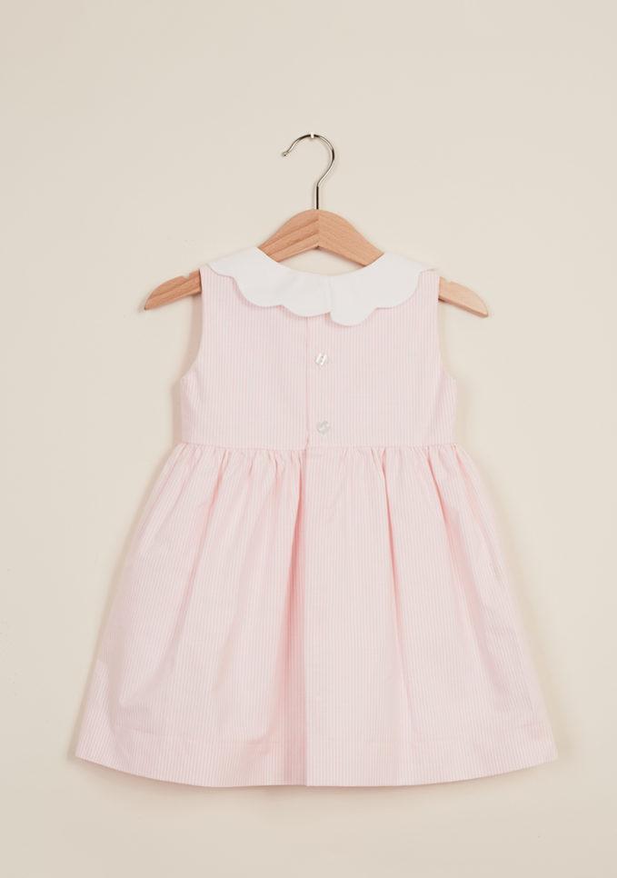 BARONI - Girl's striped cherry petal dress