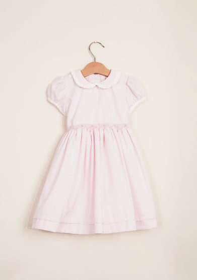 BARONI - Girl's smocked cotton dress