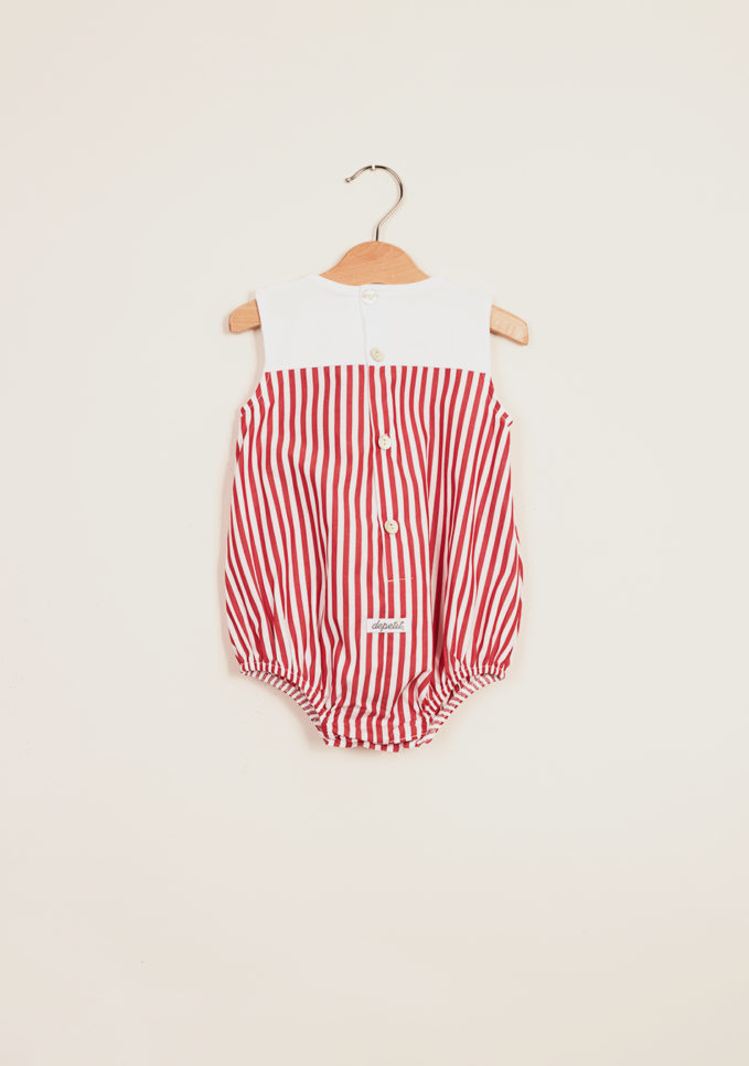 DEPETIT - Cotton striped romper