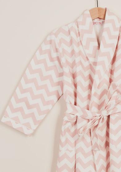 I MARMOTTINI - Vestaglia bambina fantasia bianco e rosa