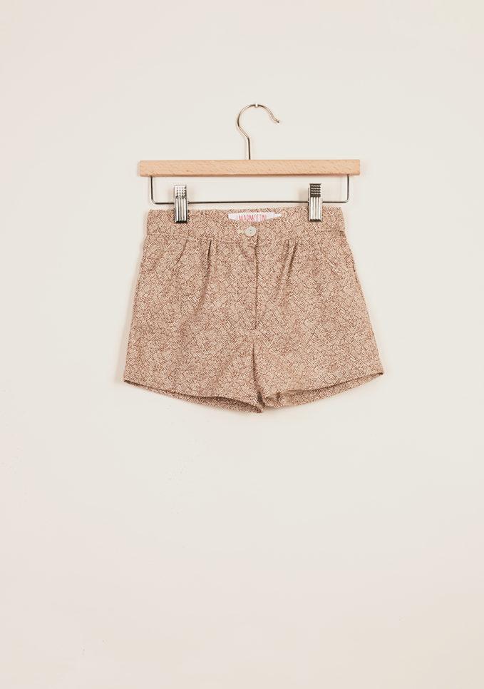 I MARMOTTINI - Girl's geometric print bermuda shorts