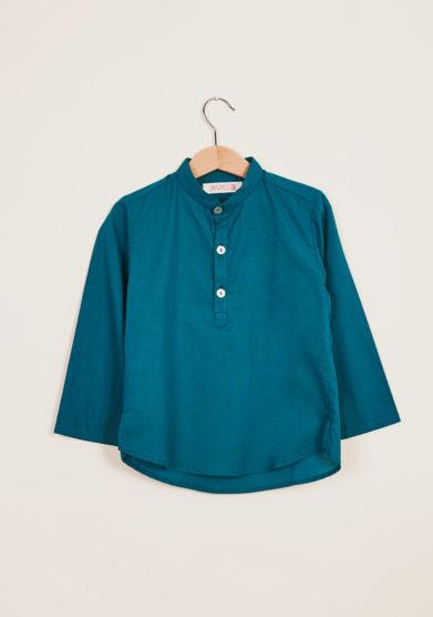 I MARMOTTINI - Camicia bambino in cotone collo coreana