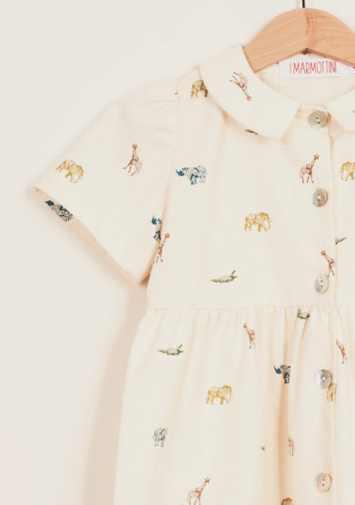 I MARMOTTINI - Girl's printed cotton dress
