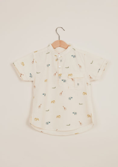I MARMOTTINI - Camicia bambino stampa animali savana