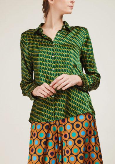 CARLOTTA CANEPA - Printed silk shirt