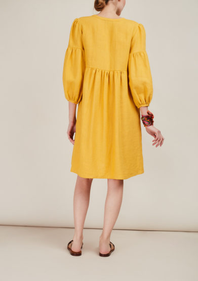 MADUNINE - Linen shirt dress
