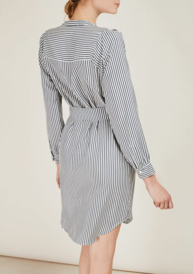 THE FLORENCE CLUB - Striped silk shirt dress