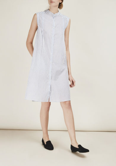 THE FLORENCE CLUB - Striped cotton shirt dress