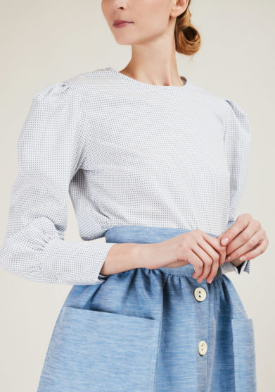 THE FLORENCE CLUB - Cotton polka-dot blouse