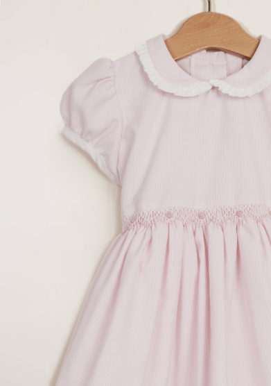 Girl's smocked cotton dress