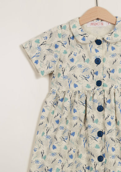 I MARMOTTINI - Girl's parrots printed dress