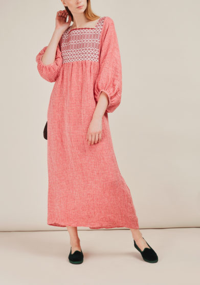 NINA LEUCA - Embellished linen dress