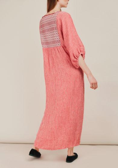 NINA LEUCA - Embellished linen dress
