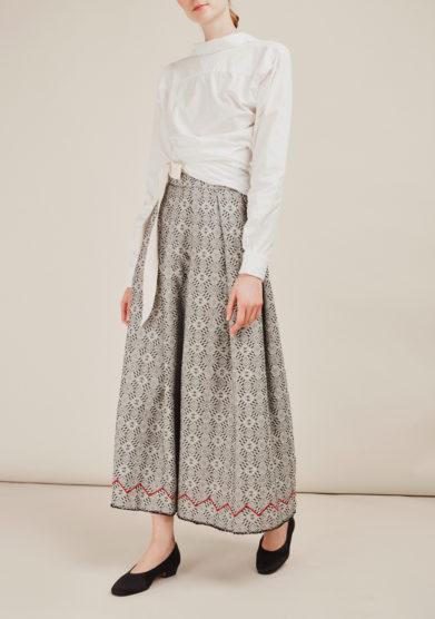 NINA LEUCA - Embellished linen skirt