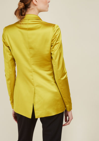 NASCO UNICO - Acid-green satin tailored blazer