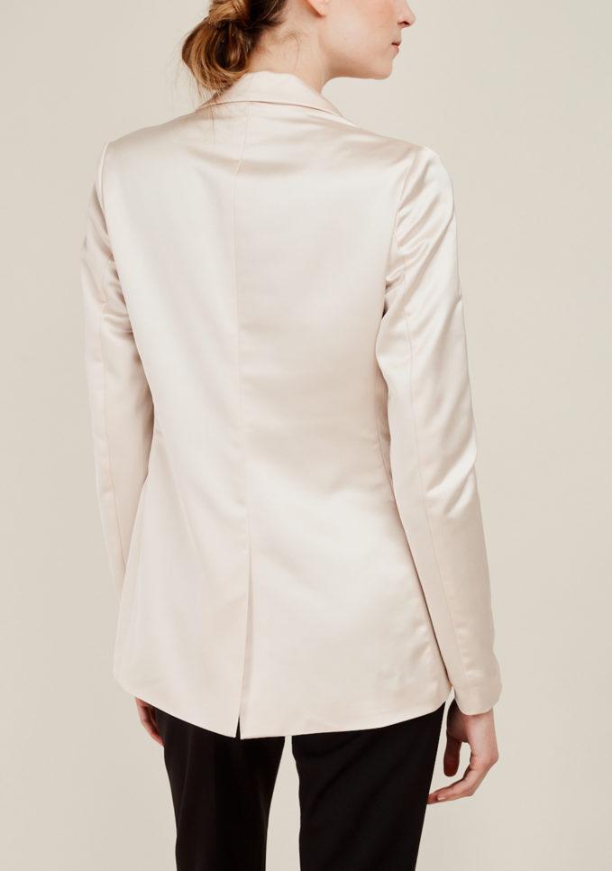 NASCO UNICO - Pink satin tailored blazer