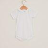 BARONI - Body neonata in cotone con colletto rouche