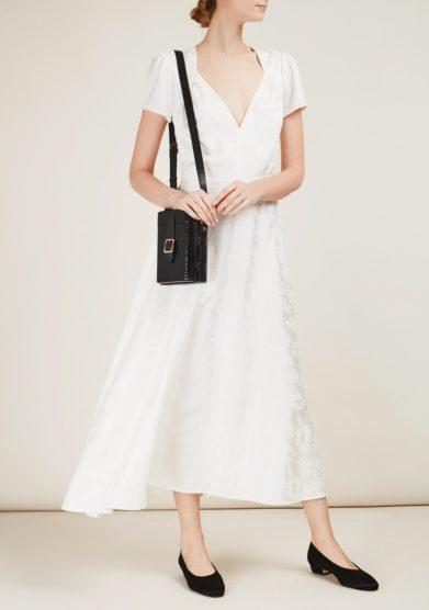 Gioia bini abito bianco seta mezza manica