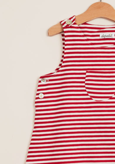 DEPETIT - Striped cotton romper