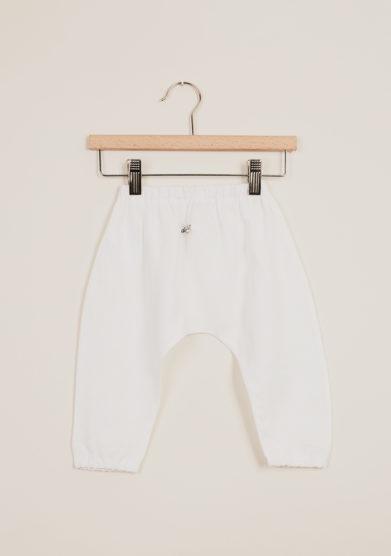 DEPETIT - Baby linen pants in white