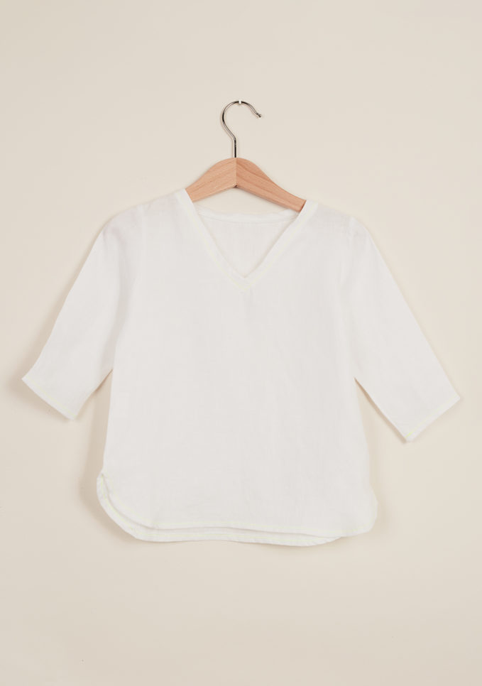 DEPETIT - Baby white linen blouse