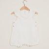 DEPETIT - White linen romper with big collar