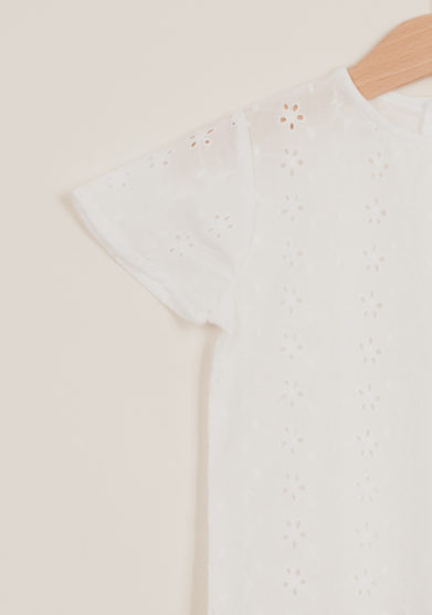 DEPETIT - Girl's broderie anglaise blouse