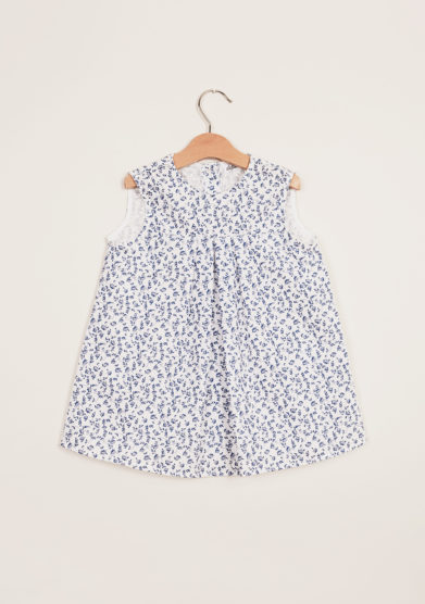 DEPETIT - Girl's floral-print cotton dress